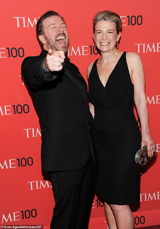 Comedian Ricky Gervais and girlfriend Jane Fallon attend the TIME 100 Gala celebrating the
