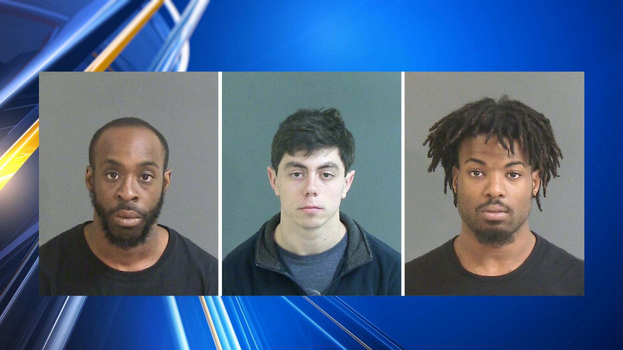 Three men and a juvenile were arrested for breaking into cars in Mount Pleasant