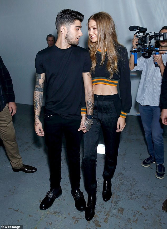 Parents-to-be! Gigi and her boyfriend Zayn gazed adoringly at each other in London in 2016