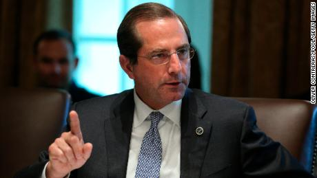 Azar lays part of blame for Covid-19 death toll on state of Americans' health