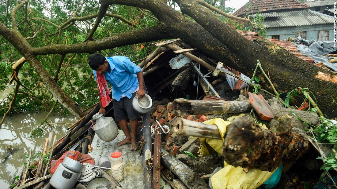 India and Bangladesh: As Cyclone Amphan heaps misery on coronavirus-hit communities thousands are left homeless