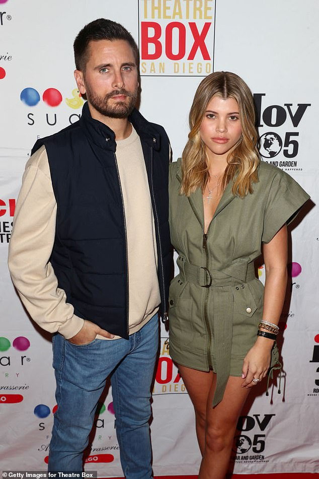 Throwback:Her latest outing comes amid a storm of rumors that she is taking a break from her 36-year-old boyfriend Scott Disick; they are pictured on Valentine's Day 2019