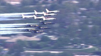 Blue Angels, Thunderbirds Honor Healthcare Workers And First Responders With Formation Flights Over Baltimore – CBS Baltimore
