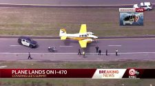Plane lands on eastbound I-470 Tuesday afternoon