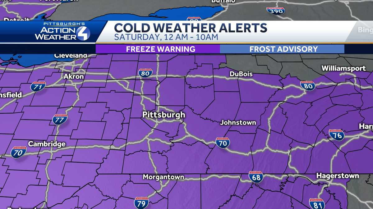 Record-breaking cold possible as temps dip into the 20s in Pittsburgh overnight