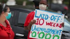 Weekly jobless claims reach 2.1 million, but total unemployed shrinks