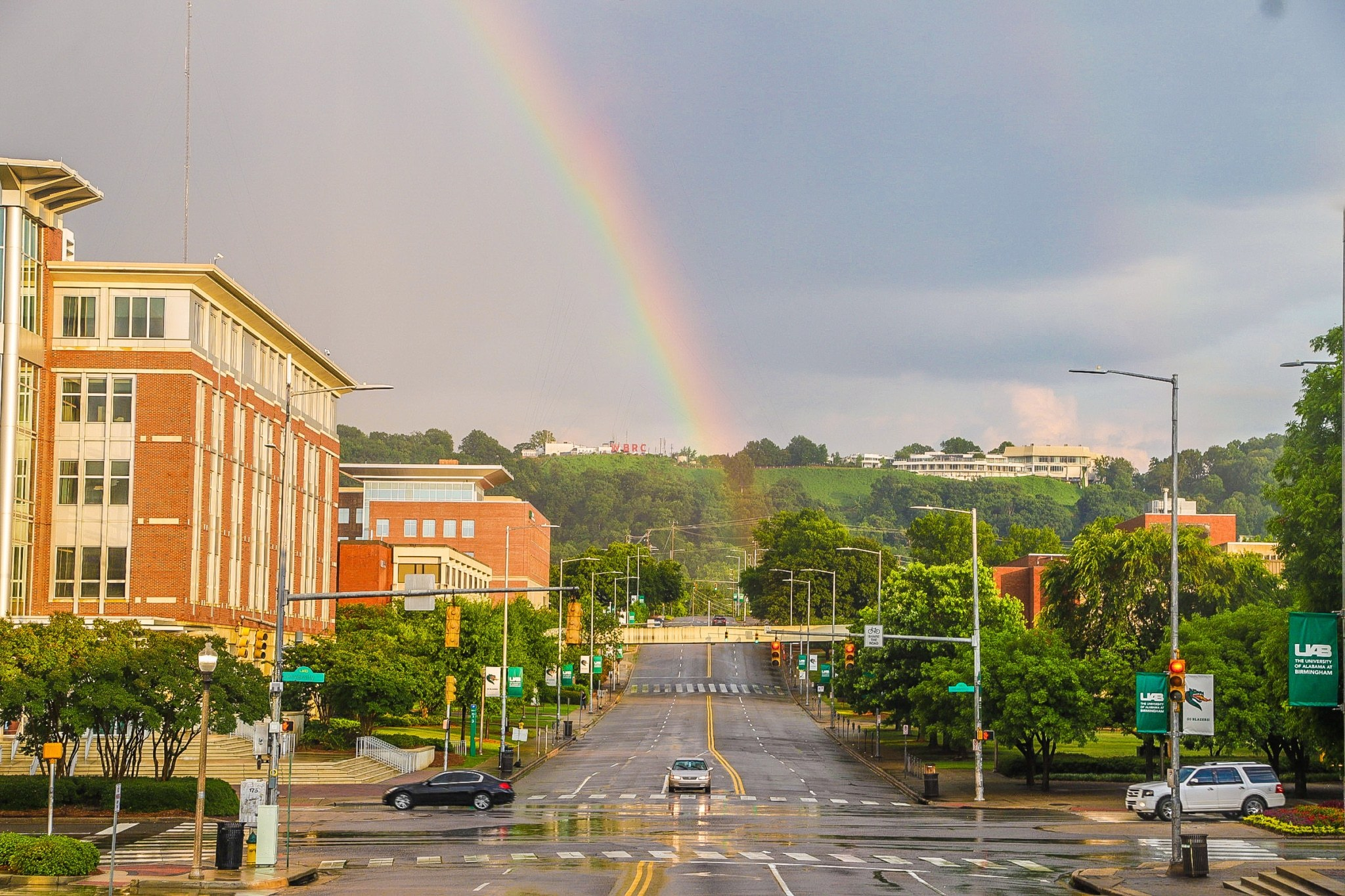 Breaking: Rainbows appear over Birmingham during the Summer Solstice (photos)