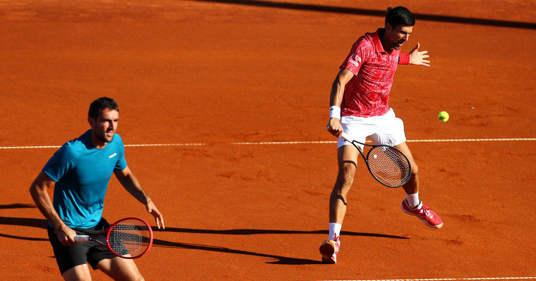 After Virus Tests, Djokovic Is Criticized for Holding Exhibition