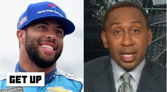 Stephen A. weighs in on NASCAR drivers supporting Bubba Wallace at Talladega   Get Up - ESPN
