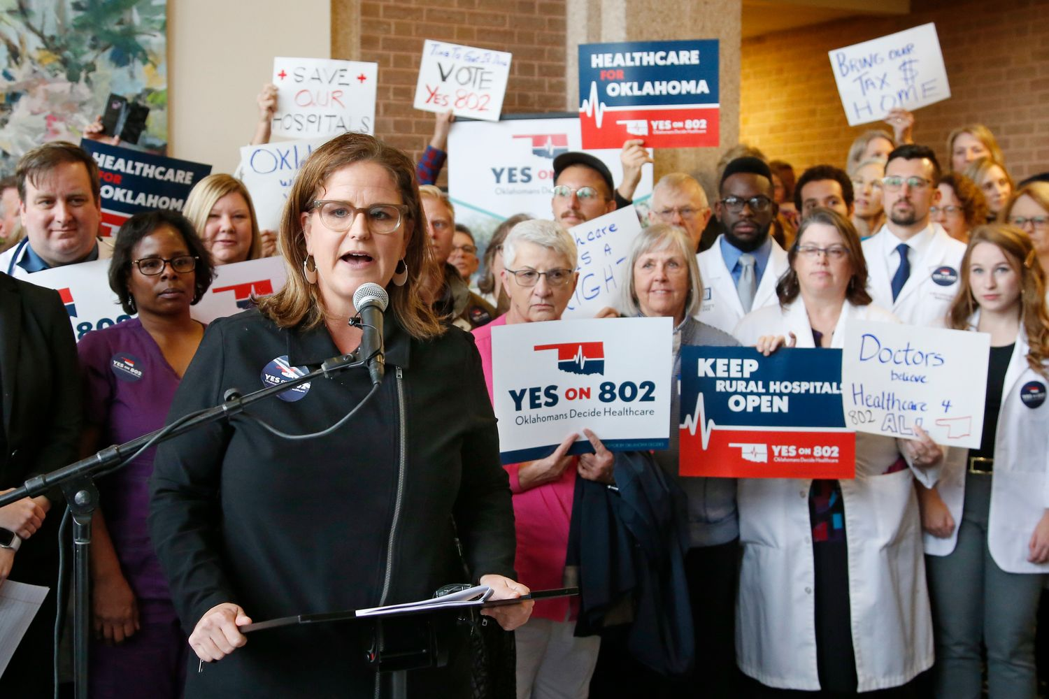 Voters in deep-red Oklahoma weigh Medicaid expansion as virus cases climb