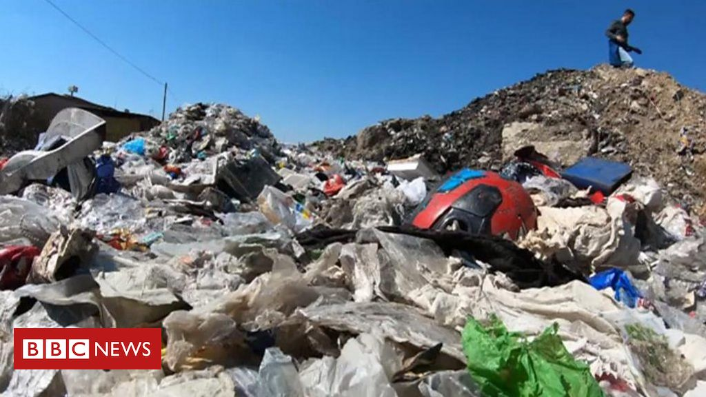 Why is UK recycling being dumped by Turkish roadsides?