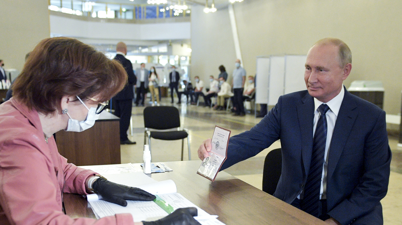 Referendum In Russia Passes, Allowing Putin To Remain President Until 2036 : NPR