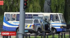 Ukraine: Gunman holds 20 hostages on bus in Lutsk
