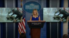 Fox cut away from a disturbing Portland video shown at WH briefing