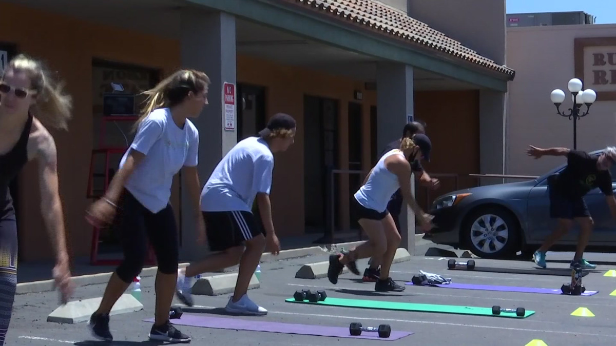Gyms Operating Outside Face Record Breaking Heat – NBC 7 San Diego