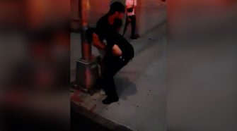 NYPD cop placed in headlock while trying to break up Bronx crowd