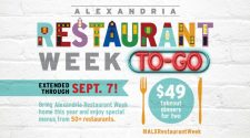 Visit Alexandria Extends Restaurant Week to-Go Through Sept. 7