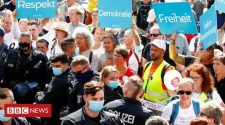 Germany coronavirus: 'Anti-corona' protest in Berlin draws thousands