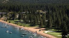 Health officials believe the person was bitten by an infected flea while walking their dog in South Lake Tahoe (pictured), California, and is currently recovering at home