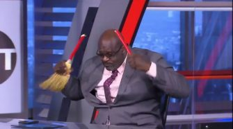 Shaq Wouldn't Stop Breaking Brooms On 'Inside The NBA'