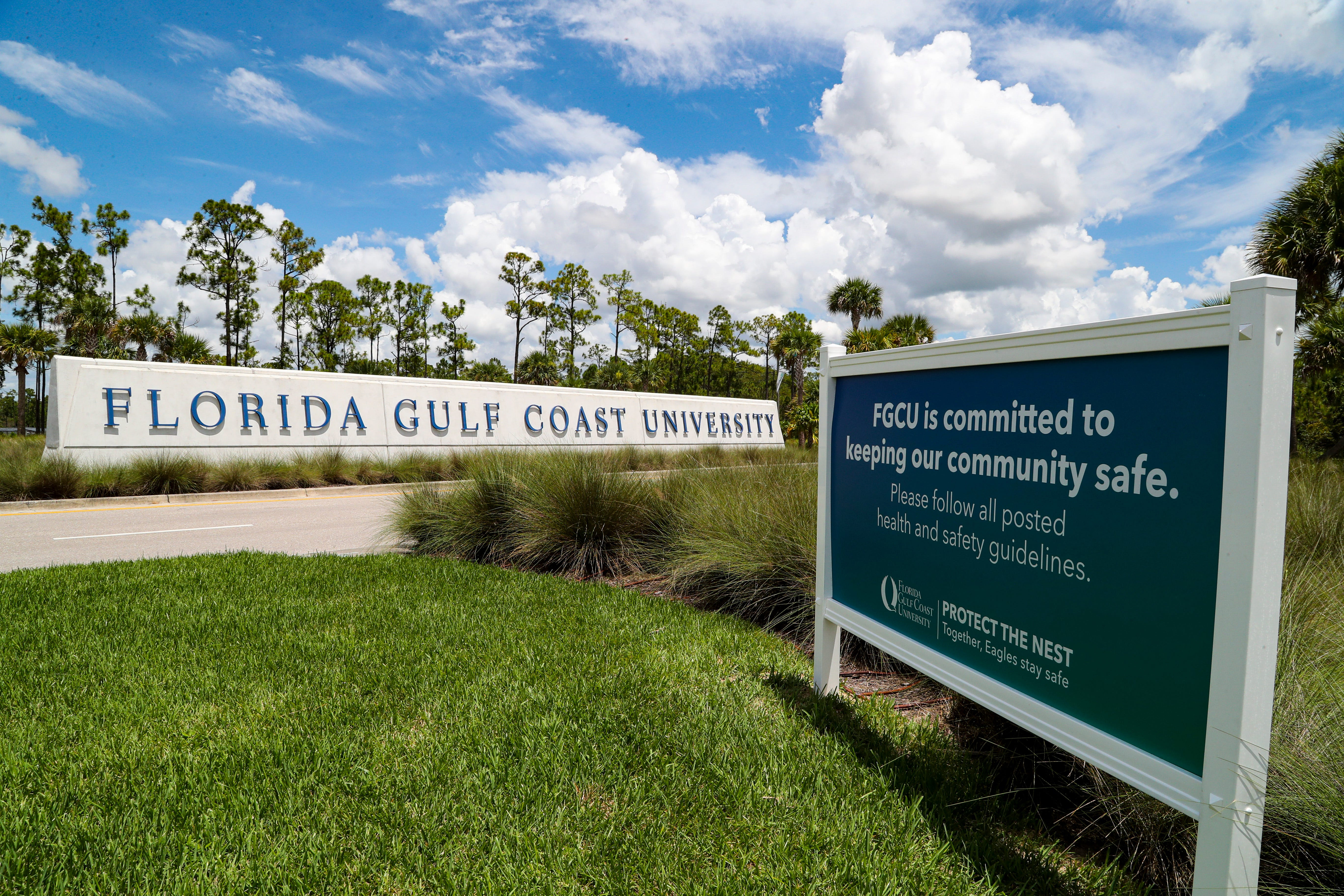 Two fraternities at Florida Gulf Coast University have been suspended for allegedly ignoring the school's new COVID-19 safety rules while throwing large, off-campus parties.
