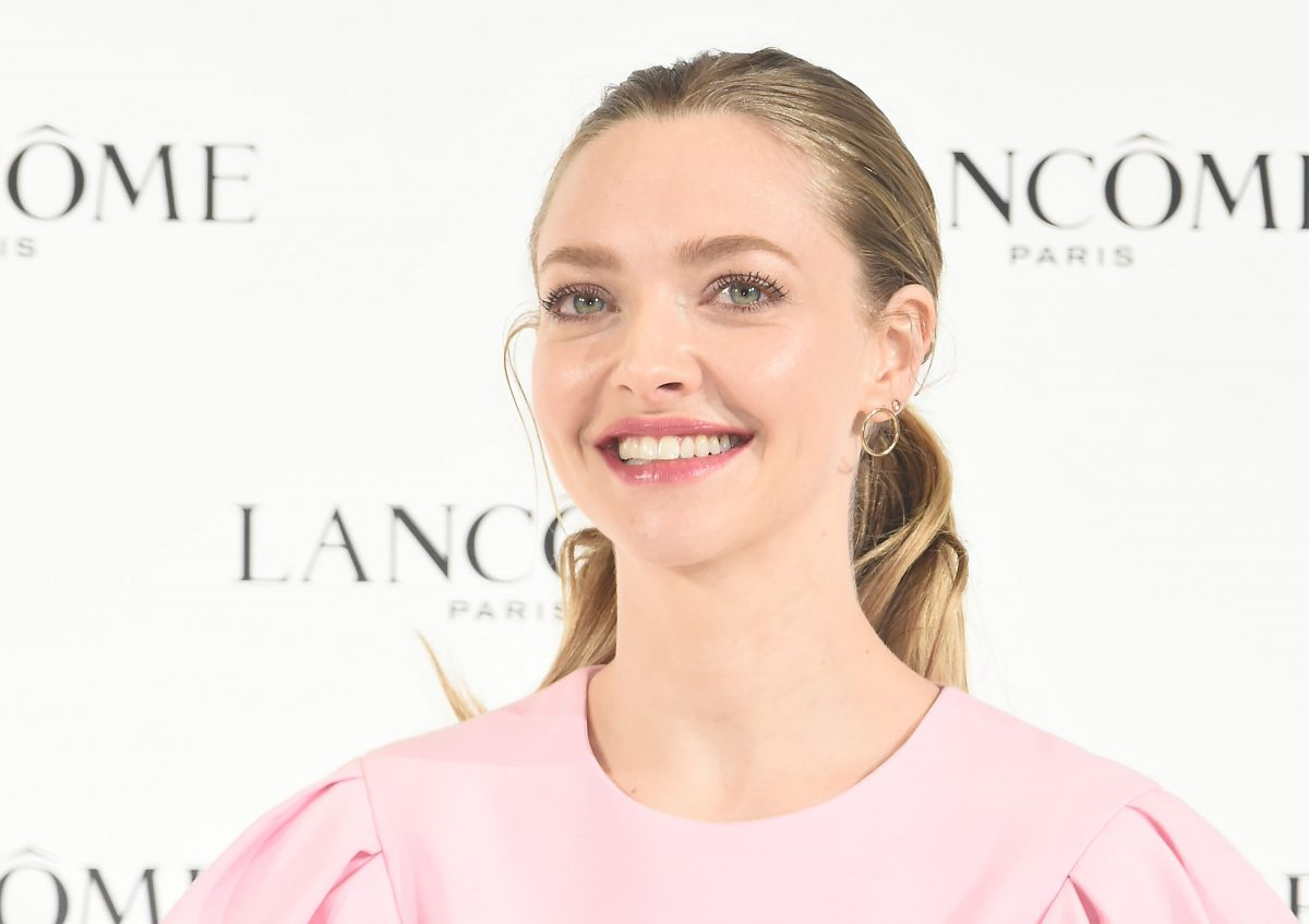 Amanda Seyfried attends the press conference for Lancome on January 15, 2020 in Tokyo, Japan.