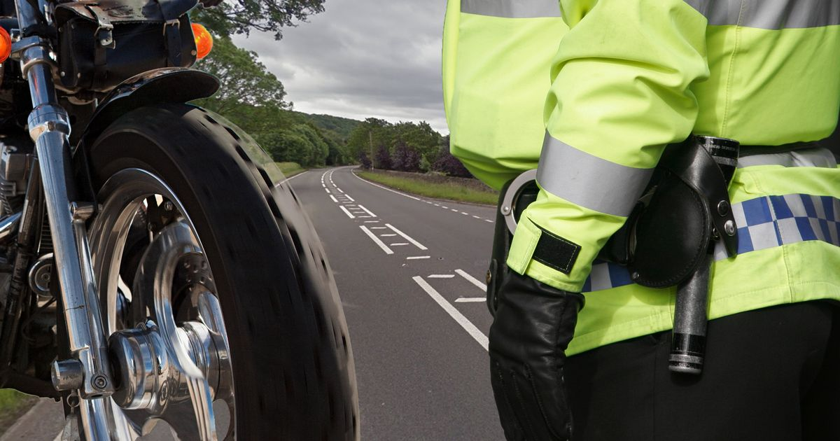 Biker accuses Derbyshire cop of breaking Covid rules when pulling him over