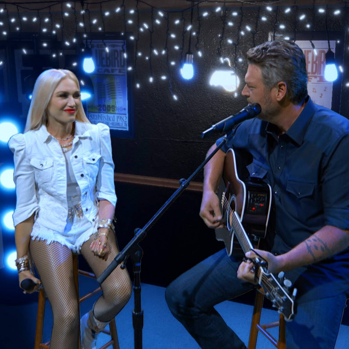 Gwen Stefani and Blake Shelton's Love Takes Center Stage at ACM Awards