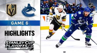NHL Highlights | Second Round, Gm6: Golden Knights @ Canucks - Sept. 03, 2020