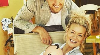 Adorable:Sheridan Smith looked like she was radiating with happiness in an adorable family snap with fiancé Jamie Horn, 30, and their four-month-old son Billy shared on Wednesday