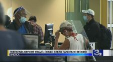 Weekend airport travel could break pandemic record
