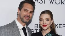 Thomas Sadoski (L) and Amanda Seyfried arrive at the premiere of Bleecker Street Media