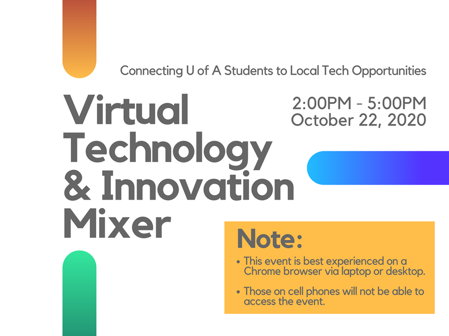 Attend Virtual Technology and Innovation Mixer for Local Tech Jobs and Internships