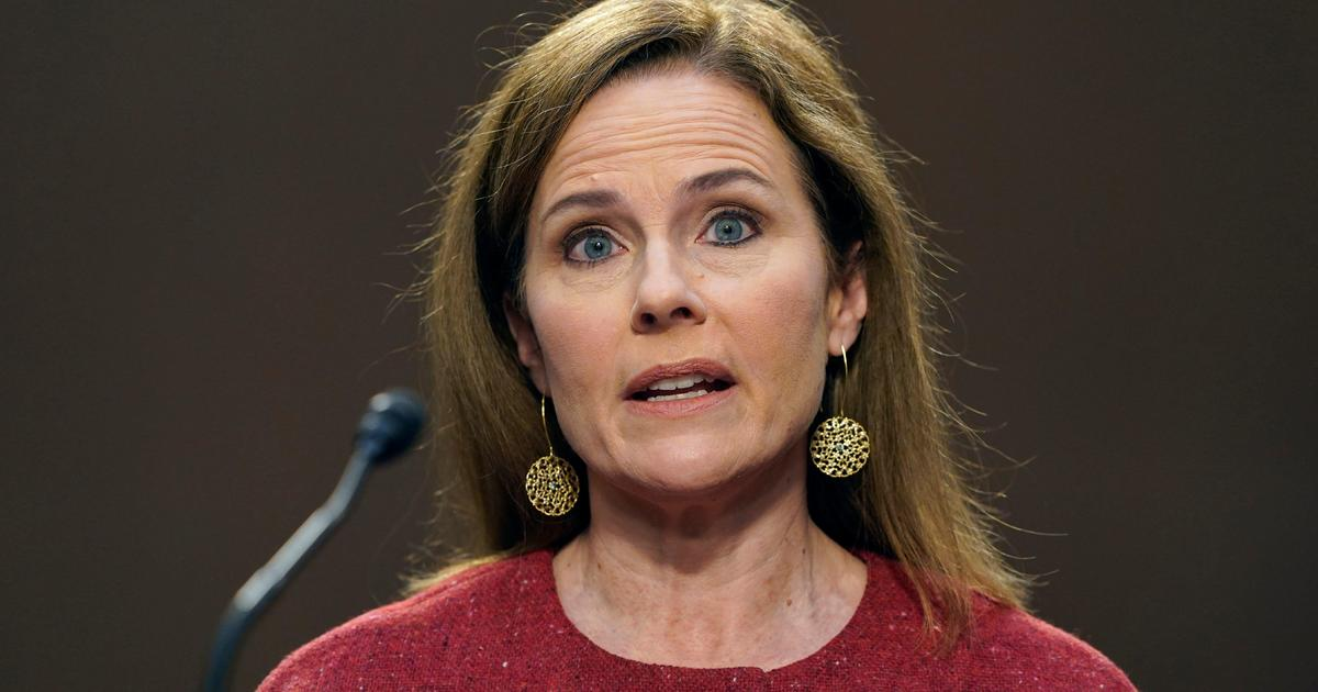 Amy Coney Barrett refuses to speculate on political issues in Senate hearings