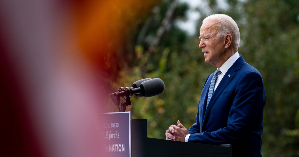 Biden, Invoking F.D.R., Tries to Siphon Off Trump Voters in Georgia