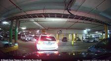 The footage, shared to Dash Cam Owners Australia on Saturday, showed the white Jeep begin to reverse out of a parking spot