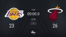 Lakers @ Heat | NBA on ABC Live Scoreboard | #NBAFinals Presented by YouTube TV
