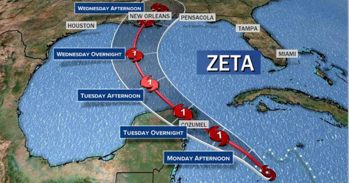 Tropical Storm Zeta expected to strengthen into hurricane and make landfall on Gulf Coast