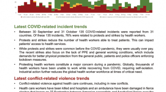 Health worker safety and security in the context of the COVID-19 pandemic (Update November 2020) - World