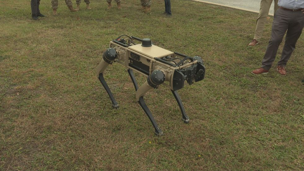 Tyndall Air Force Base's new technology comes in the form of four-legged robots