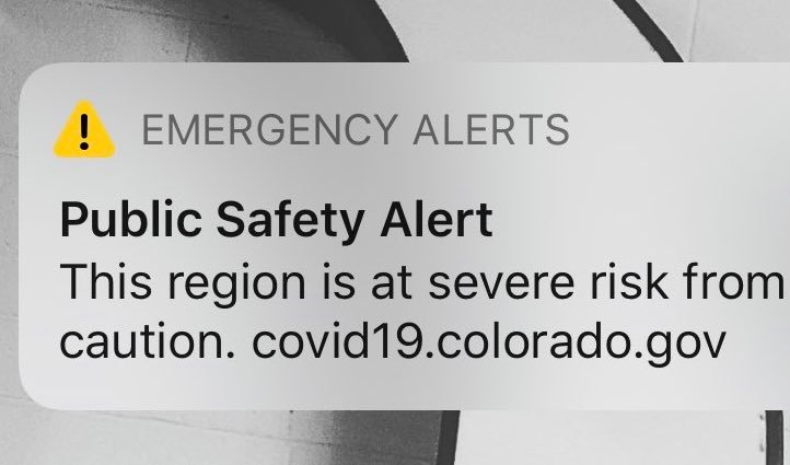 Health officials send COVID-19 alert to Denver area cell phones