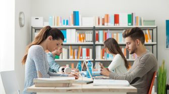 High tech classrooms and innovation concept