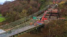 Ski-lift technology used to aid £10.5m restoration of bridge linking England and Scotland