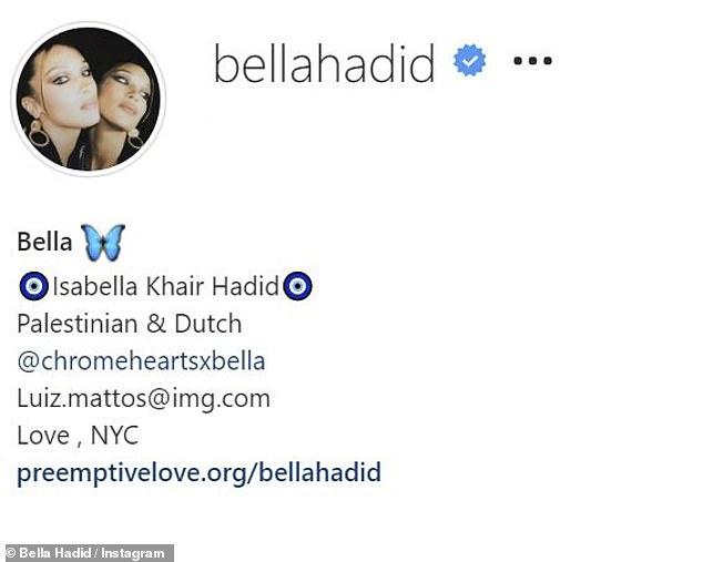 Aww: The name bears a resemblance to Gigi's sister Bella Hadid's middle name, Khair