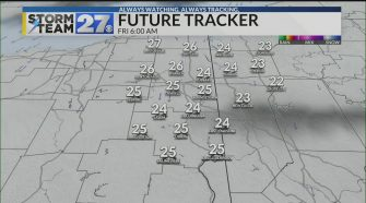Clouds will finally break into the weekend
