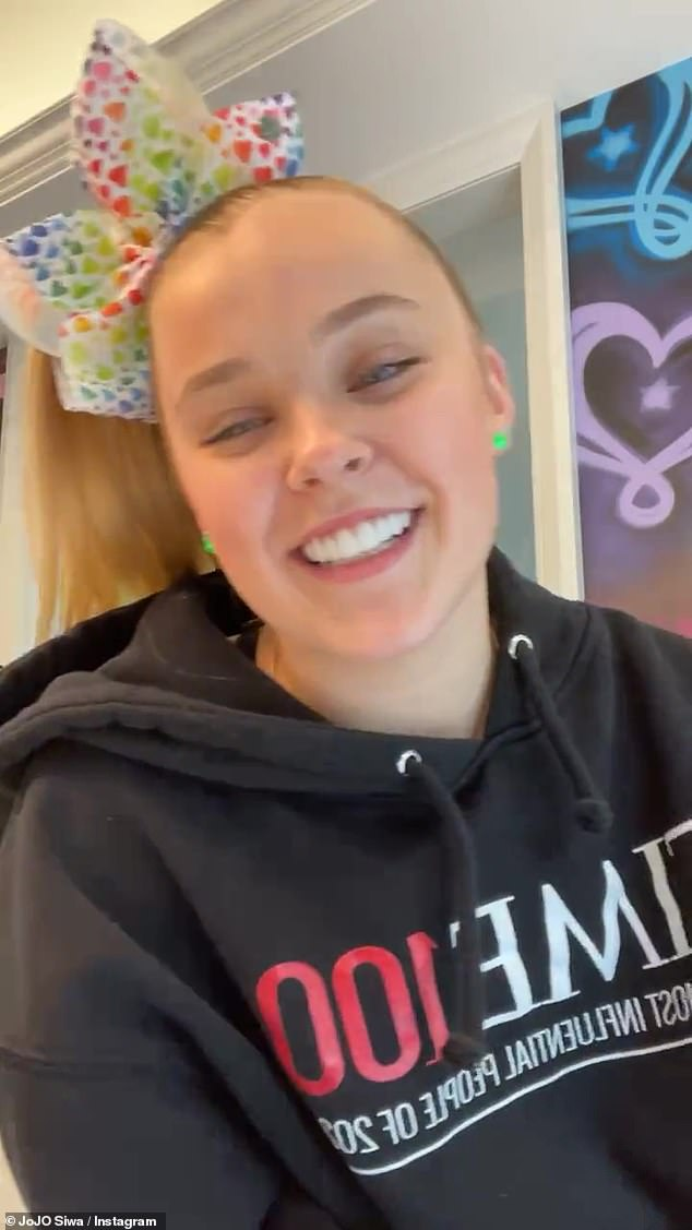 Clearing things up: JoJo Siwa confirmed she was part of the LGBTQ+ community but said she wasn