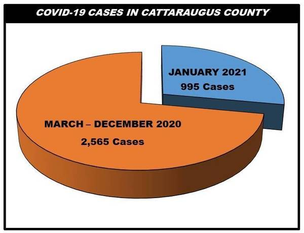 Cattaraugus County Health Department Reports 23 New COVID-19 Cases and One Death Saturday