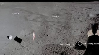 Remastered images reveal how far Alan Shepard hit a golf ball on the Moon