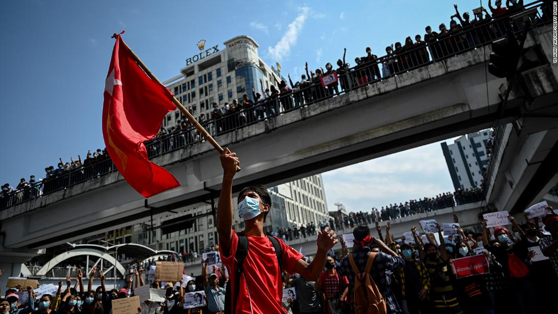 Myanmar coup: Military warns protesters not to destroy democracy as protests grow