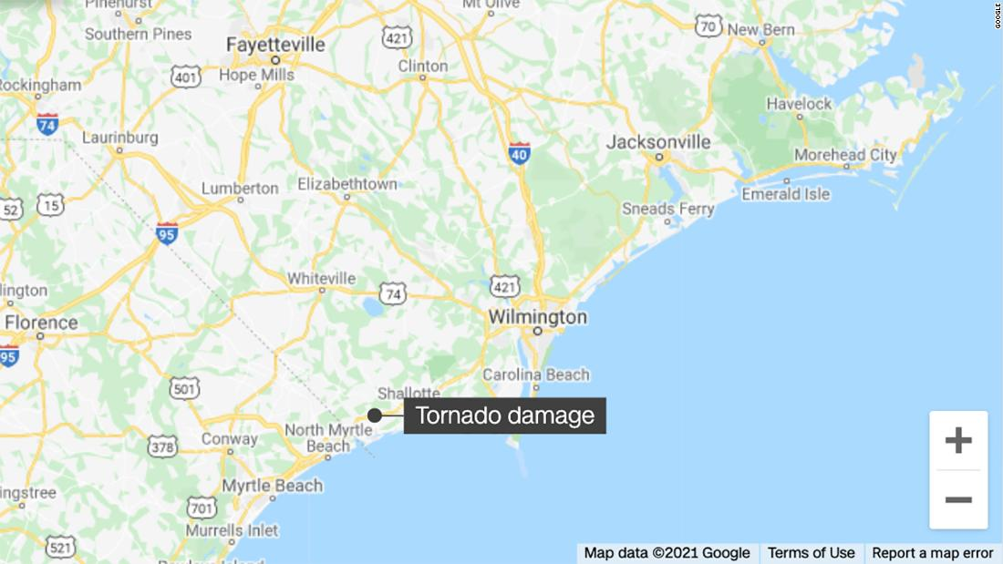 North Carolina tornado: Rescue teams head to Brunswick County area to search for missing persons